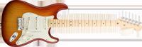 Fender American Deluxe Strat® Ash, Maple Fretboard, Aged Cherry Sunburst