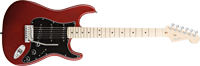 Fender American Deluxe Strat® Ash, Maple Fretboard, Wine Transparent