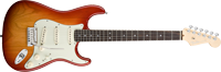 Fender American Deluxe Strat® Ash, Rosewood Fretboard, Aged Cherry Sunburst
