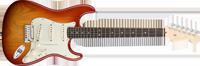 Fender American Deluxe Strat® Ash, Rosewood Fretboard, Aged Cherry Sunburst