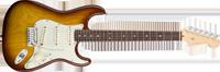 Fender American Deluxe Strat® Ash, Rosewood Fretboard, Tobacco Sunburst