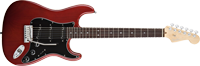 Fender American Deluxe Strat® Ash, Rosewood Fretboard, Wine Transparent