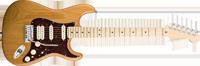Fender American Deluxe Strat® HSS, Maple Fretboard, Amber