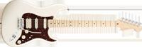Fender American Deluxe Strat® HSS, Maple Fretboard, Olympic Pearl