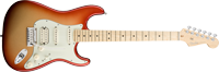 Fender American Deluxe Strat® HSS, Maple Fretboard, Sunset Metallic