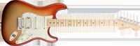 Fender American Deluxe Strat® HSS, Maple Fretboard, Sunset Metallic