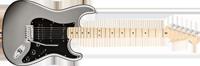 Fender American Deluxe Strat® HSS, Maple Fretboard, Tungsten