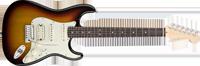 Fender American Deluxe Strat® HSS, Rosewood Fretboard, 3-Color Sunburst