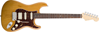 Fender American Deluxe Strat® HSS, Rosewood Fretboard, Amber