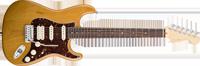 Fender American Deluxe Strat® HSS, Rosewood Fretboard, Amber