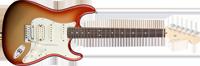 Fender American Deluxe Strat® HSS, Rosewood Fretboard, Sunset MetallicAmerican Deluxe Strat® HSS, Rosewood Fretboard, Sunset Metallic