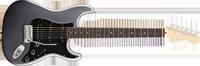 Fender American Deluxe Strat® HSS, Rosewood Fretboard, Tungsten