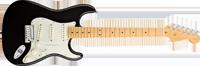 Fender American Deluxe Strat® V Neck, Maple Fretboard, Black