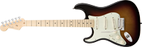 Fender American Deluxe Stratocaster®, Left Handed, Maple Fretboard, 3-Color Sunburst