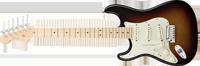 Fender American Deluxe Stratocaster®, Left Handed, Maple Fretboard, 3-Color Sunburst
