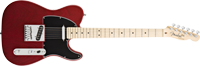 Fender American Deluxe Tele® Ash, Maple Fretboard, Wine Transparent