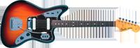 Fender American Vintage 62 Jaguar®, Rosewood Fretboard, 3-Color Sunburst