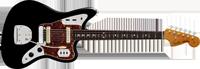 Fender American Vintage 62 Jaguar®, Rosewood Fretboard, Black