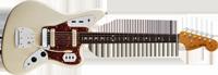 Fender American Vintage 62 Jaguar®, Rosewood Fretboard, Olympic White